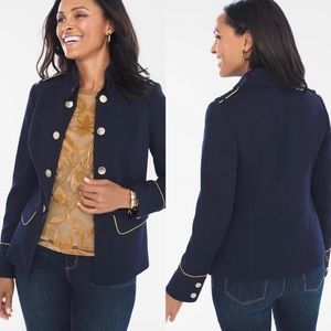NWT Chico's Military Blue Jacket Size 2 Large